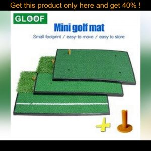 top 1Set Mini Portable Indoor Golf Hitting Mat Putting Trainer Practice Pad Golf Putter Green Fairw