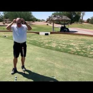 Golf   3 Foot Putting Instruction with Strobe Training Glasses