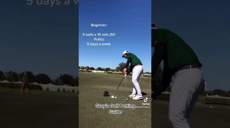 Beginner Regimen: Instructional Video for Gray's Golf Putting Guide