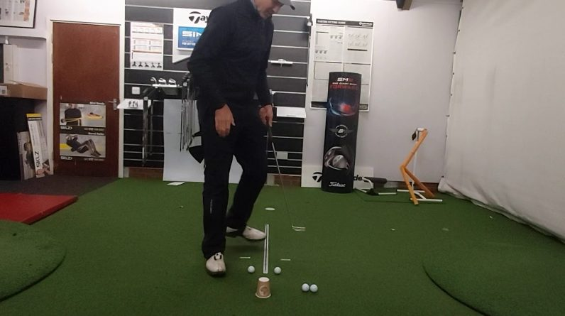 Golf Drills For The Lounge No 9 - A Great Putting Drill to Hit More Putts Straight Down The Line
