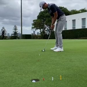 Golf Tips with Jeremy Ward  - Putting Drill for Sloping Putts