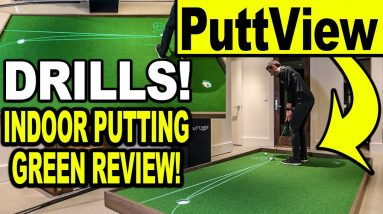 INDOOR PUTTING GREEN REVIEW - PuttView P7 Plus (Putting Drills & Virtual Green)