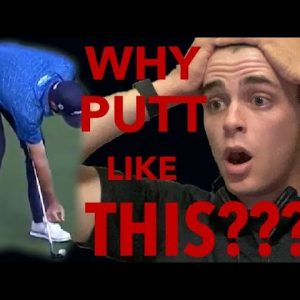 PRO GOLFER REACTS TO MARK HUBBARD'S INSANE PUTTING TECHNIQUE