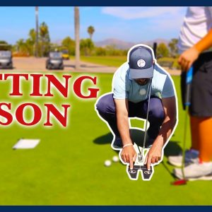 Golf Putting Lesson, Drills and Technique